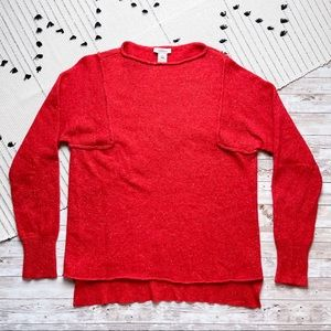 Sundance Lambswool Crewneck Speckled Red Sweater M